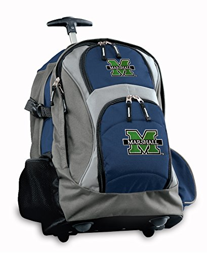 Marshall University Rolling Backpack Deluxe Navy Marshall Herd Backpacks Bags W