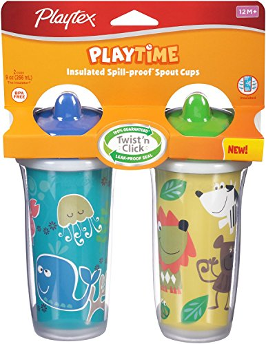 2-Pack Playtex The Insulator 9 oz. Spill-Proof Cups - Girls (Colors/Styles Vary) (Playtex Insulator Valves compare prices)