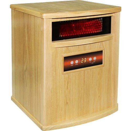 American Comfort Acw0037Wo Gold Line With Charcoal Filter Infrared Heater, Oak