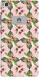 ascend p8 back case cover ,Tropical Floral Fern Pattern Designer ascend p8 hard back case cover. Slim light weight polycarbonate case with [ 3 Years WARRANTY ] Protects from scratch and Bumps & Drops.
