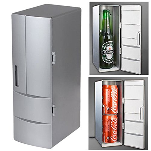 Amjimshop Vovotrade(Tm) New Mini Usb Cola Drink Fridge Beverage Can Cooler Warmer Freezer Refrigerator