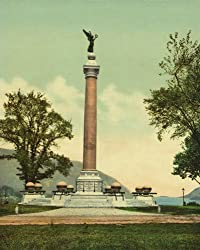 Battle Monument at West Point, 1901 - Print of a Vintage Photochrom Image from the Library of Congress Collection