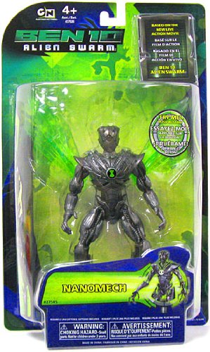 Picture of Bandai Ben 10 (Ten) 6 Inch DNA Alien Heroes Action Figure Nanomech Alien Swarm (B0036BD0Y8) (Ben 10 Action Figures)