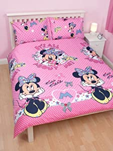 Minnie mouse shopaholic rotary double duvet set matching curtains