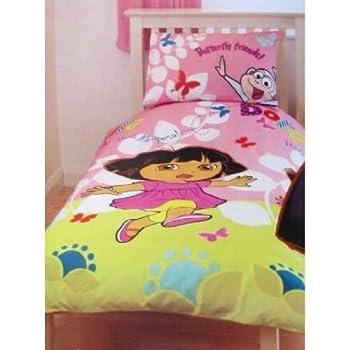 pas cher ensemble de literie dora l 39 exploratrice pour enfants housses de couette et d. Black Bedroom Furniture Sets. Home Design Ideas