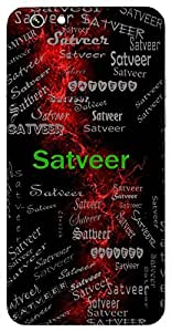 Satveer (Lord Vishnu) Name & Sign Printed All over customize & Personalized!! Protective back cover for your Smart Phone : Samsung Galaxy Note-4