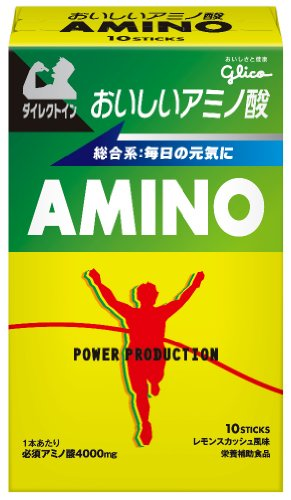 グリコ パワープロダクション おいしいアミノ酸 必須アミノ酸スティックパウダー レモンスカッシュ風味 1本 10本