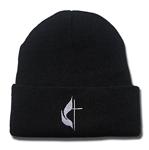 ZZZB Cross & Flame - United Methodist Church Logo Beanie Fashion Unisex Embroidery Beanies Skullies Knitted Hats Skull Caps
