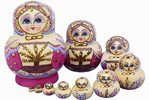 Beautiful-Purple-Little-Girl-and-Tree-Pattern-Wooden-Handmade-Hand-painted-Russian-Nesting-Dolls-Matryoshka-Dolls-Set-10-Pieces-Children-Kids-Toys-Gift-Home-Decoration