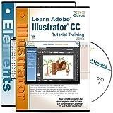 Adobe Illustrator CC Tutorial & Adobe Photoshop Elements 13 Training 4 DVDs
