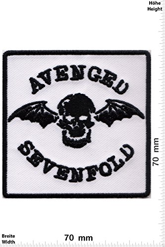 Patch - Avenged Sevenfold - white - Musicpatch - Rock - Vest - Iron on Patch - toppa - applicazione - Ricamato termo-adesivo - Give Away