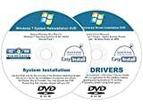 Windows 7 (SP1) 32 & 64 bit Reinstall Install Disc + 2016 Driver DVD - Support All Versions Home Basic, Home Premium, Professional, Ultimate - ReInstallation DVD Set - 2 Disc