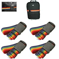 LUGGAGE STRAPS LOT OF 4 RAINBOW COLOR STRAPS BRAND NEW