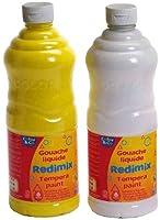 Lefranc & Bourgeois Redimix 188372-ASS Gouache liquide 8 flacons de 1 litre Assortis