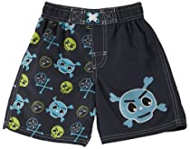 iXtreme Baby Skull & Crossbones Swim Trunks 18 Mo Black