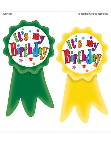 Teacher Created Resources Birthday Ribbons Wear'Em Badges (4851)