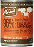 Merrick Grain Free Real Beef/Lamb/Buffalo Pet Food, 13.2-Ounce, 12-Can