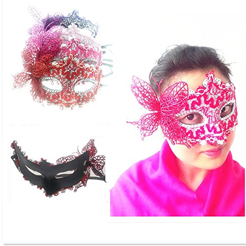 parksonyuan-4pcs-half-face-mask-princess-dance-party-eye-mask-flower-butterfly-mask-halloween-mask-f