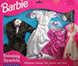Barbie Evening Sparkle Fashions w Tuxedo, Wedding Gown & Dress - Easy To Dress (1996 ARcotoys, Mattel)
