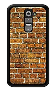 """Humor Gang Brick Wall Pattern Printed Designer Mobile Back Cover For """"LG G2"""" (3D, Glossy, Premium Quality Snap On Case)"""