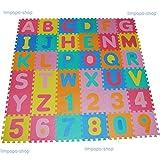 86tlg Spielmatte Kinderteppich Puzzlematte Spielteppich Schaumstoffmatte Matte