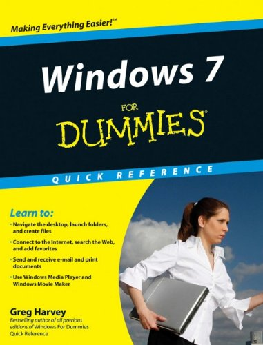 Windows 7 For Dummies Quick Reference