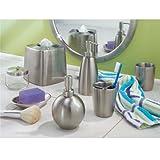 InterDesign Forma Toothbrush Holder Stand for Bathroom Vanity Countertops - Brushed Stainless Steel