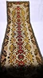 Large Vintage Old Italian Gold Brocade Doily Doiley Rug Table Runner Area Carpet