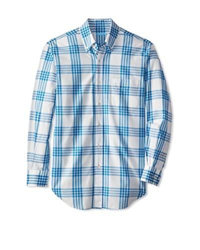 J. McLaughlin Men's Plaid Carnegie Button Down Sportshirt