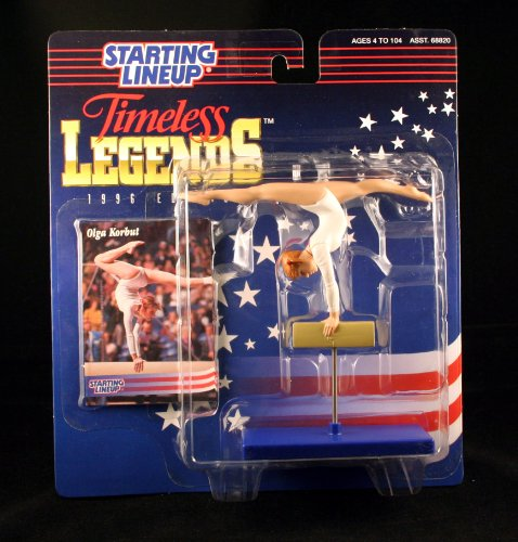 OLGA KORBUT / OLYMPIC U.S.S.R. WOMEN'S GYMNASTICS (1976 SUMMER OLYMPICS) * 1996 TIMELESS LEGENDS Kenner Starting Lineup & Exclusive Collector Trading Card - 1
