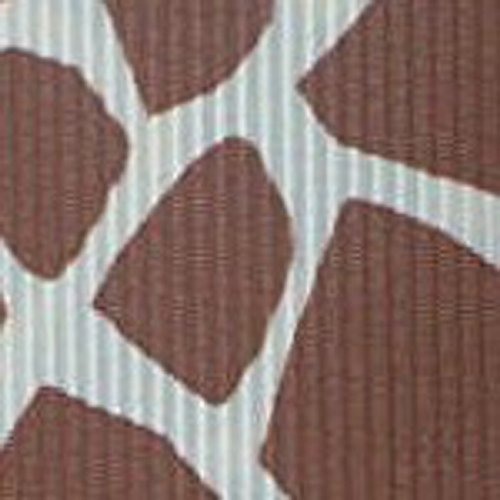 10 Yds Giraffe Print Grosgrain Ribbon, 7/8 Inch Brown / Tan