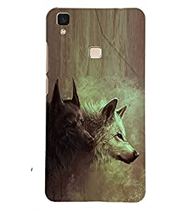 PRINTSHOPPII WOLF Back Case Cover for Vivo V3 Max