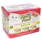 Fancy Cat Food Gourmet Grilled 3-Flavor Variety Pack 72OZ (Pack of 4)