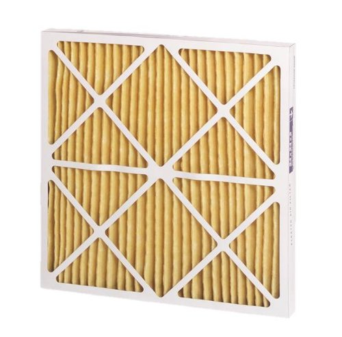 "Filtration Group 19631 1100 Series Pleated Air Filter, Synthetic Media, Yellow, 11 MERV, 15"" Height x 25"" Width x 1"" Depth (Case of 12)"