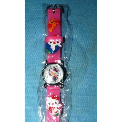 1 Pc HELLO KITTY 3D Wrist Watch COLOR PINK ~ Great Gift Idea