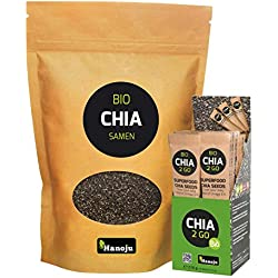 Bio Chia Samen (Bio Chia Samen 1000 g + Bio CHIA2GO 14 Sticks)
