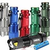 Ultrafire CREE XPE Q5 300lm Mini LED Flashlight +14500 >> Color:Silver