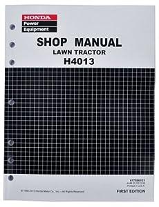 Honda H4013 Lawn Tractor Mower Service Repair Shop Manual from Honda Power Equipment