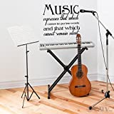 Music Expresses That Which Cannot Be Put Into Words and That Which Cannot Reamin Silent wall saying vinyl lettering home decor decal stickers quotes