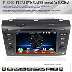 See 7 Inch HD Hi-Fi 2 Din Car DVD Player for MAZDA3 (GPS, Touch Screen, Analog TV, DVD, Radio, Bluetooth, iPod, RDS, PIP, 3D Rotating Menu, Steering Wheel Control, Can Bus) Details