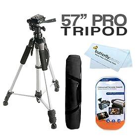TZ91 TZ18 G70 DMC-FT3 /& LX5 Cameras TZ58 Compatible with Panasonic LUMIX DMC-TZ20 DURAGADGET Professional Sturdy Tripod w// 3D Ball Head TZ30 G-3 TZ71