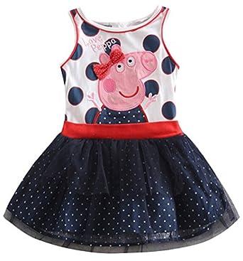 Amazon.com: Peppa Dress Tutu Birthday Dress Vestido Peppa
