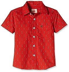 UFO Boys' Shirt (AW16-WF-BKT-253_Red_12 - 13 years)