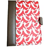 Orla Kiely Kindle Fire Book Case - Birdwatch Cream/Red