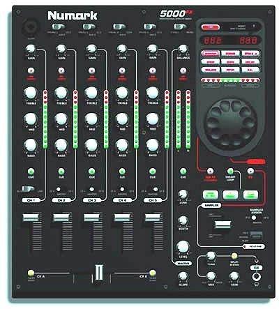 Numark 5000Fx 5-Channel Dj Mixer W/Fx & Sampling 12 Inch Dj Mixer