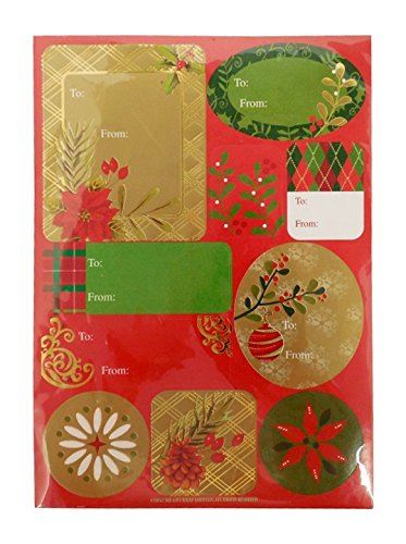 The Gift Wrap Company Self-Adhesive Holiday Label Sheets, Traditional Sentiments front-1002850