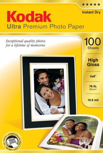 Kodak 8505141 4-Inch X 6-Inch Ultra Premium Photo Paper High