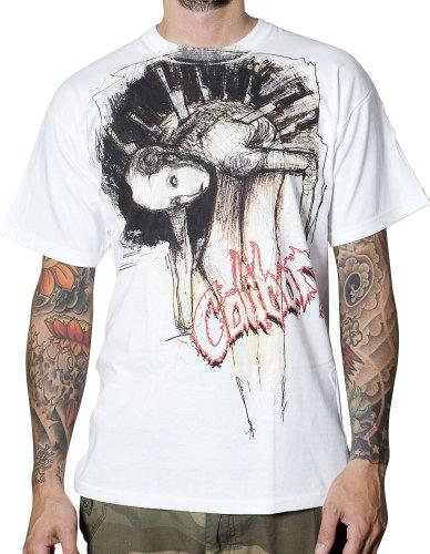 """""""Lowlife"""" Caliban, T-Shirt, bianco"""