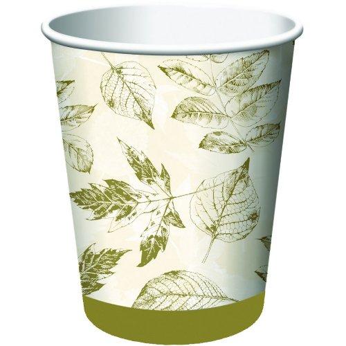 Leaf Print 9oz Cups