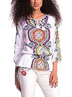 Desigual Blusa Leman (Blanco / Multicolor)